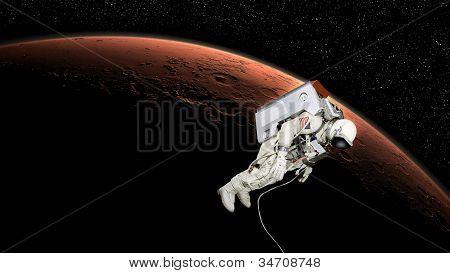 Astronaut In Mars Orbit