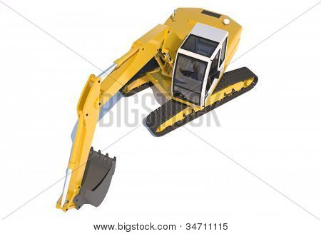 Excavator from the above