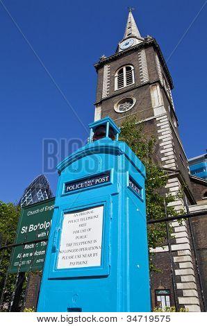 Police Public Call Box In London