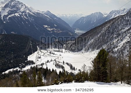 A View Into Alp From Bernina Pass