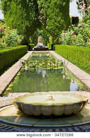 Generalife gardens, Granada, Spain