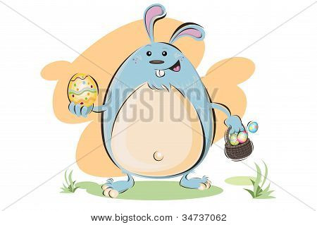 Fat Easter Bunny
