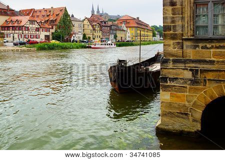 Picturesque landscape with Bamberg Bavaria