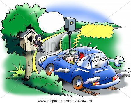 Traffic Starling Box Camera Monitoring