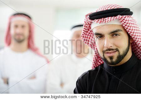 Saudi business man at work