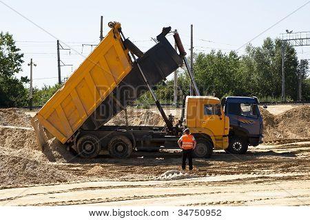 Unloading Of Sand