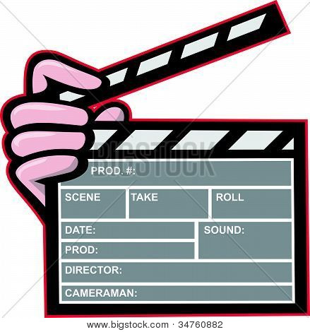Clapboard Clapperboard Clapper Front