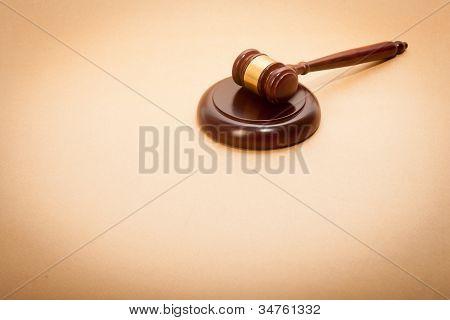 Richter Gavel und Resonanzboden