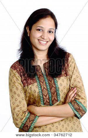 Beautiful Happy Indian Girl
