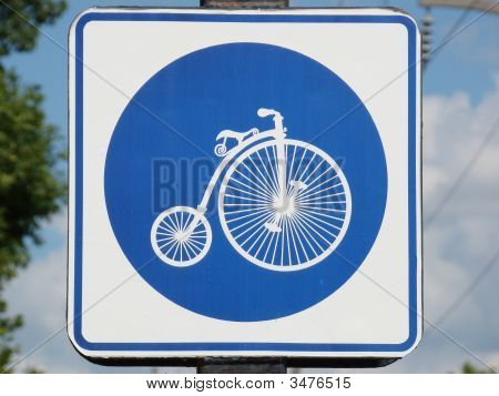Bicycling Sign