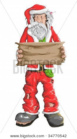 Homeless Santa Claus