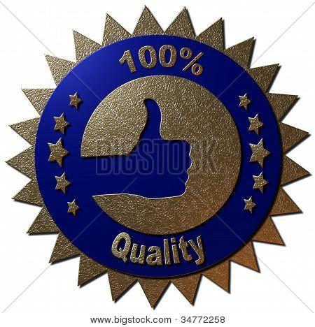 100% Quality (Blue)