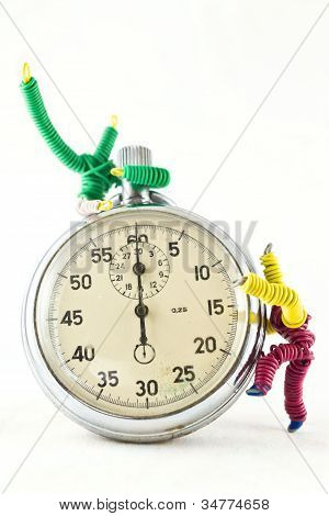 toys, playing with a clock