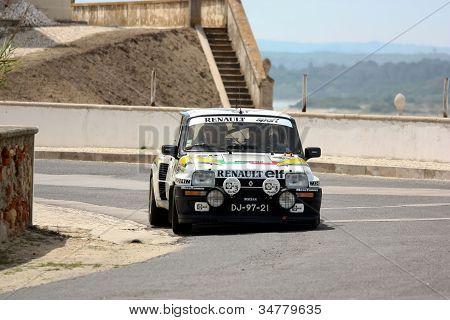 Foz Do Arelho, Portugal - May 13: Rui Machado Drives A Renault 5 Turbo During Rally Sprint Foz Do Ar