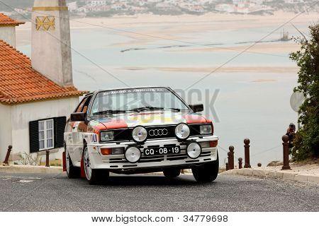 Foz Do Arelho, Portugal - May 13: Cipriano Antunes Drives A Audi Quattro During Rally Sprint Foz Do