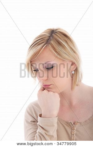 Sad Dejected Young Woman
