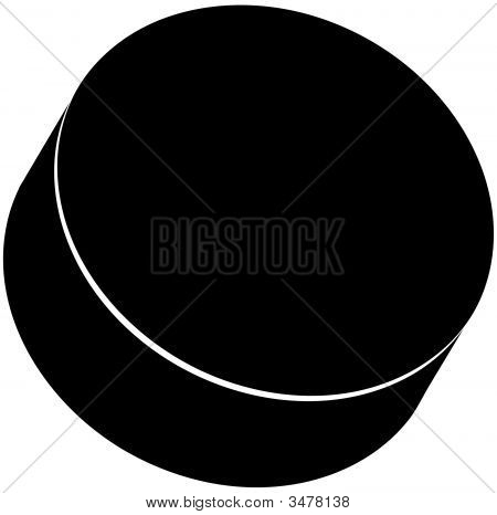 Hockey Puck Black