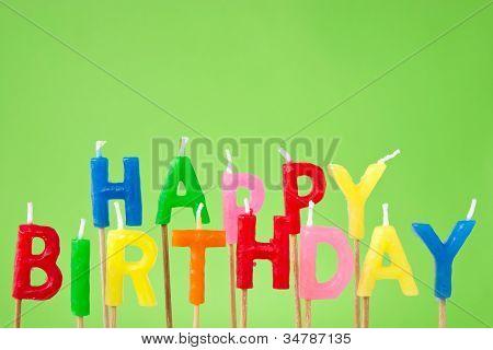 Happy Birthday Candle Text