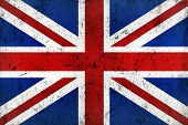 picture of frazzled  - Grunge Dirty and Weathered British Flag Old Metal Textured - JPG