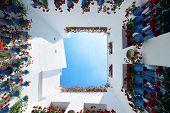 Beautiful flower decoration of the resident house in Cordoba, Spain. poster
