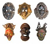 stock photo of cultural artifacts  - The original African masks made  - JPG