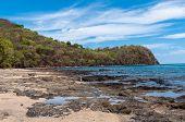stock photo of papagayo  - rocky coast of papagayo golf  - JPG