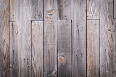 Old Wooden Texture Background. Brown Striped Wood Lumber Wall. poster