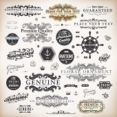 vector set: calligraphic design elements and page decoration, Premium Quality, Seafarers and Satisfa