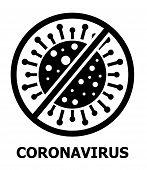 Coronavirus Icon Vector For Web. Stop Cov Caution Sign. Stop Virus Symbol. Pandemic Dangerous, Biolo poster