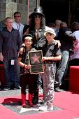 LOS ANGELES - JUL 9:  Slash and two sons at the Hollywood Walk of Fame Ceremony for Slash at Hard Ro