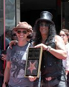 LOS ANGELES - JUL 9:  Clifton Collins Jr., Slash at the Hollywood Walk of Fame Ceremony for Slash at