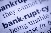 stock photo of glossary  - the word bankruptcy in an English glossary super macro - JPG