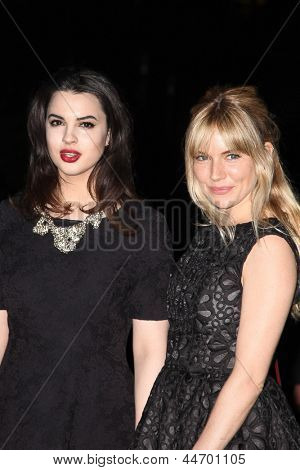 NEW YORK, NY - APRIL 16: Actress Matilda Sturridge and Sienna Miller attends the Vanity Fair Party 2013 Tribeca Film Festival  on April 16, 2013 in New York City.