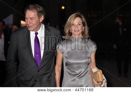 NEW YORK, NY - APRIL 16: Charlie Rose and NYC City Planning Commissioner and Trustee Amanda Burden attend Vanity Fair Party for the 2013 Tribeca Film Festival on April 16, 2013 in New York City