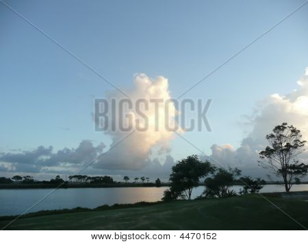 Clouds At Dusk On The Macleay River Near Sth West Rocks Nsw Australia