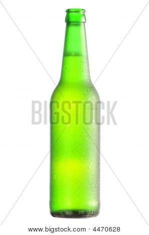 Open Lager Beer Bottle