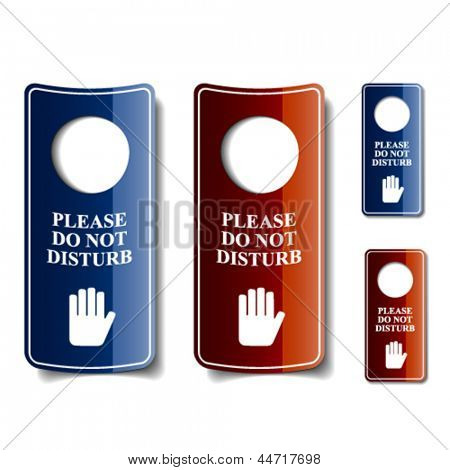 vector do not disturb door hangers