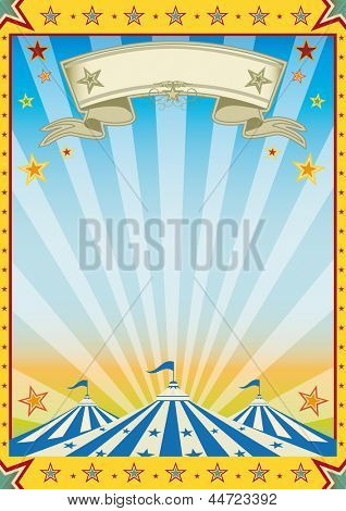 Fun yellow circus color sun party. A new color circus background