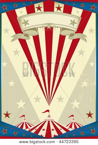 Circus dirty tricolor background. A circus vintage poster for your advertising