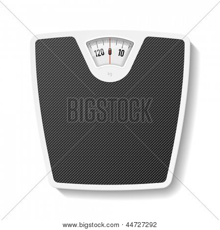 Bathroom scale. Vector.