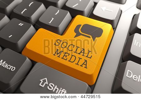Keyboard with Social Media Button.