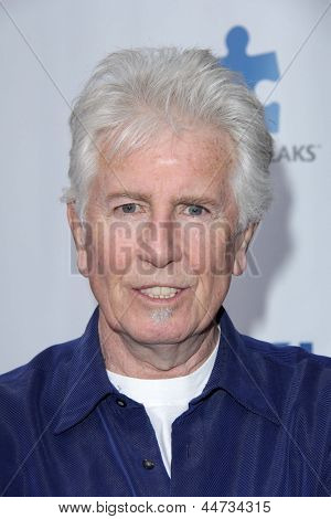 LOS ANGELES - APR 13:  Graham Nash arrives at the Light Up The Blues Concert Benefitting Autism Speaks at the Club Nokia on April 13, 2013 in Los Angeles, CA