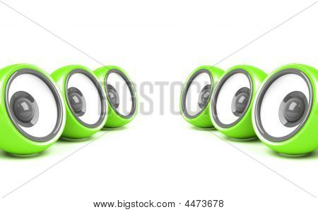 Green Stylish Audio System