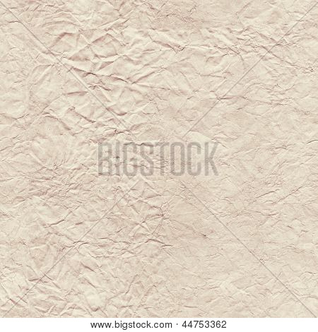 Seamless texture of the old, crumpled paper
