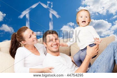 happy lifetime living people dreaming for a real estate