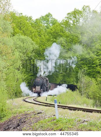 steam freight train in Tuzla region, Bosnia and Hercegovina