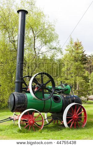 traction engine, Carrbridge, Highlands, Scotland