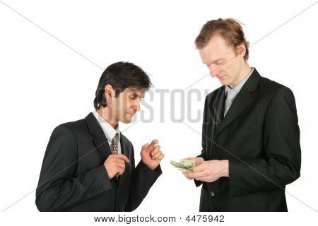 Two Businessmen And Dollars