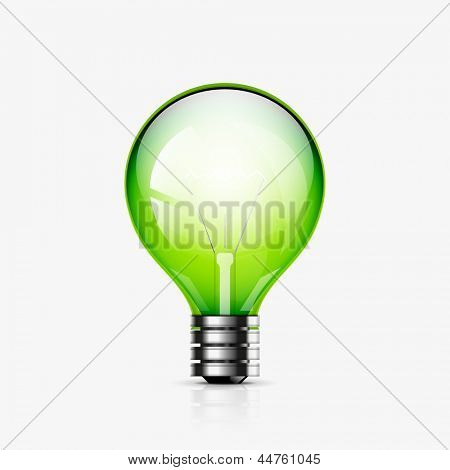 Vector light bulb icon. EPS10