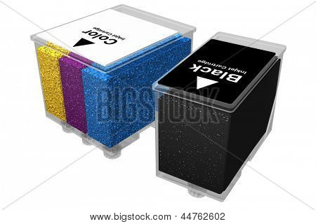 Photo of Inkjet cartridges - Transparent (3D)